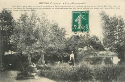 """CPA FRANCE 89 """" Villeroy, La mare publique autrefois"""""""