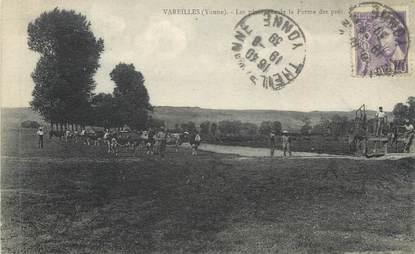 """CPA FRANCE 89 """" Vareilles, Le pâturage de la ferme"""""""