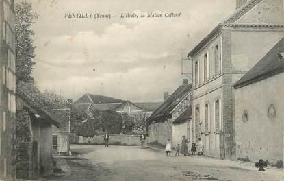 """CPA FRANCE 89 """" Vertilly, L'école , la Maison Collard"""""""