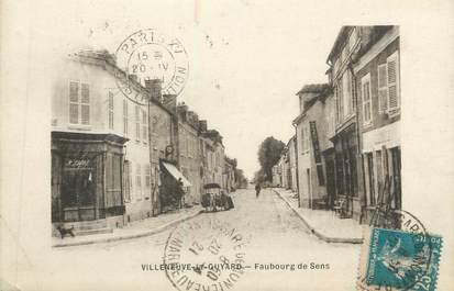 """CPA FRANCE 89 """" Villeneuve la Guyard, Faubourg de Sens"""""""