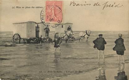 "CPA FRANCE 59 ""Malo les Bains, les Cabines"""