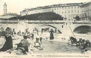 """06 Alpe Maritime / CPA FRANCE 06 """"Nice, les blanchisseuses du Paillon et le pont vieux"""""""