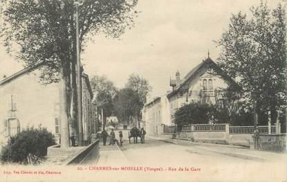 """CPA FRANCE 88 """" Charmes sur Moselle, Rue de la Gare"""""""