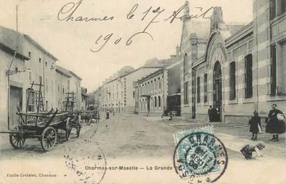 """CPA FRANCE 88 """" Charmes sur Moselle, La grande rue"""""""