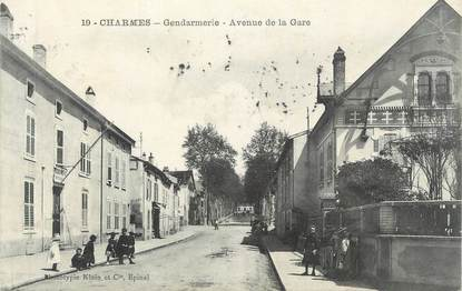 "CPA FRANCE 88 "" Charmes, La Gendarmerie, Avenue de la Gare"""