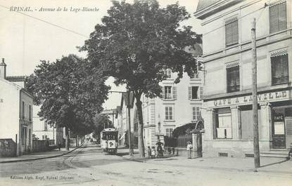 "CPA FRANCE 88 "" Epinal, Avenue de la Loge Blanche"" / TRAMWAY"