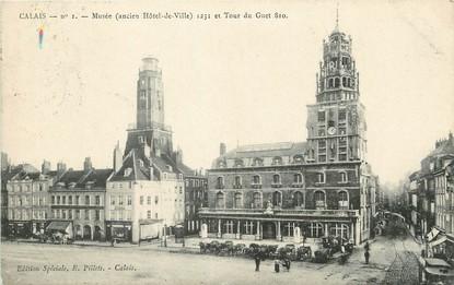 """/ CPA FRANCE 62 """"Calais, musée et tour du Guet 810"""""""
