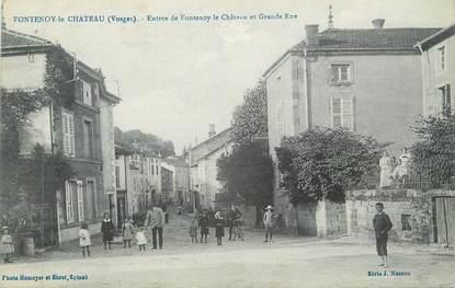 """CPA FRANCE 88 """"Fontenoy le Château, La Grande Rue"""""""