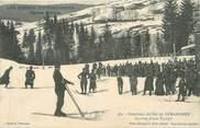 """88 Vosge CPA FRANCE 88 """"Gérardmer, Concours de ski arrivée d'une équipe"""" / SKI"""