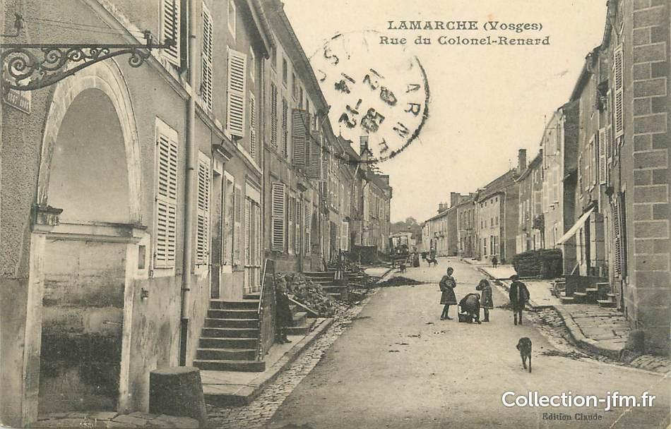 cpa france 88 lamarche rue du colonel renard 88 vosges lamarche 88 ref 167795. Black Bedroom Furniture Sets. Home Design Ideas
