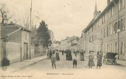 """CPA FRANCE 88 """" Mirecourt, Rue Germini"""""""