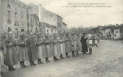 """CPA FRANCE 88 """" Ménil sur Belvitte, Remise de la Croix de Guerre avec palme au Curé en 1916"""""""