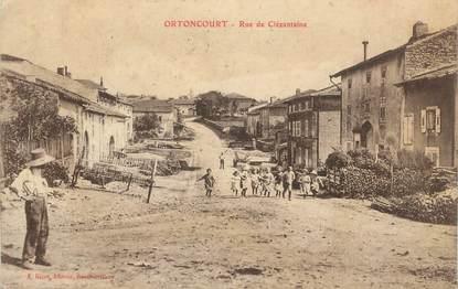"CPA FRANCE 88 "" Ortoncourt, Rue de Clézantaine"""
