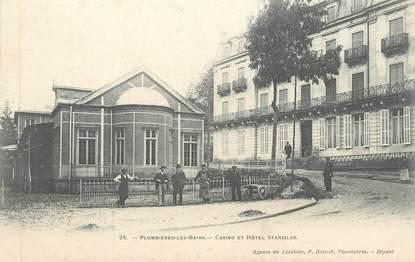 """CPA FRANCE 88 """" Plombières les Bains, Casino et Hôtel Stanislas"""""""