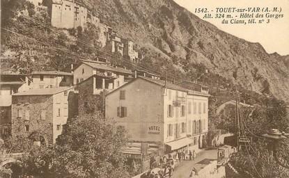 """/ CPA FRANCE 06 """"Touet sur Var, hôtel des Gorges du Cians"""""""