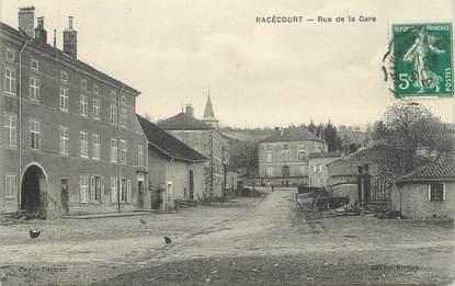 "CPA FRANCE 88 "" Racécourt, Rue de la gare"""