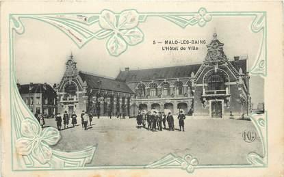 """CPA FRANCE 59 """"Malo les Bains, Hotel de ville"""""""
