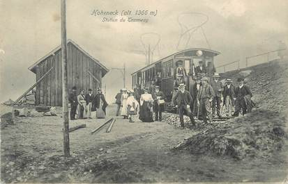 """CPA FRANCE 88 """" Hohneck, Station du tramway"""" / TRAMWAY"""