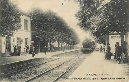 """CPA FRANCE 88 """" Harol, La gare"""""""