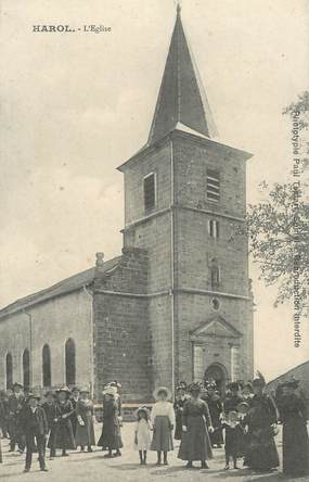 "CPA FRANCE 88 "" Harol, L'église"""
