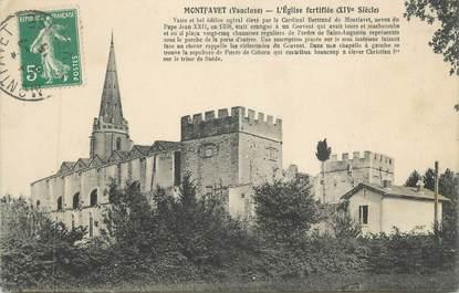 """CPA FRANCE 84 """"Montfavet, L'église fortifiée"""""""