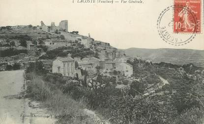 """CPA FRANCE 84 """"Lacoste, Vue générale"""""""