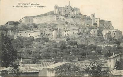 """CPA FRANCE 84 """" Entrechaux, Le château et les remparts"""""""