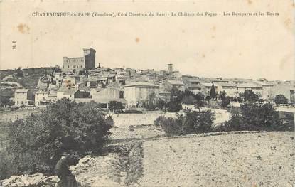 """CPA FRANCE 84 """" Chateauneuf du Pape, Le Château des Papes, les remparts et les tours"""""""