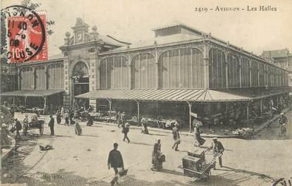 """CPA FRANCE 84 """" Avignon, Les Halles"""""""