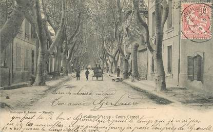"""CPA FRANCE 84 """"Cavaillon, Cours Carnot"""""""
