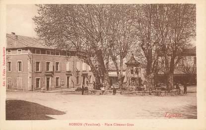 "CPA FRANCE 84 ""Robion, Place Clément Gros"""
