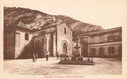 """CPA FRANCE 84 """"Robion, Place du Monument"""""""