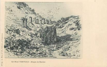 """CPA FRANCE 84 """"Le Mont Ventoux, Etages de ruches"""""""