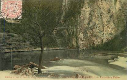 "CPA FRANCE 84 "" Fontaine de Vaucluse, La Source Haute"""