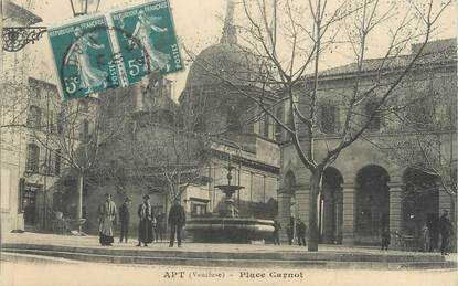 """CPA FRANCE 84 """"Apt, Place Carnot"""""""