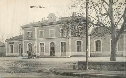 """CPA FRANCE 84 """"Apt, La gare"""""""