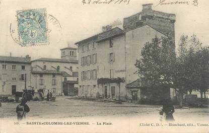 "CPA FRANCE 69 "" Ste Colombe les Vienne, La place"""