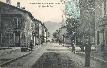 "CPA FRANCE 69 "" Ste Foy L'Argentière, La Grande Rue"""