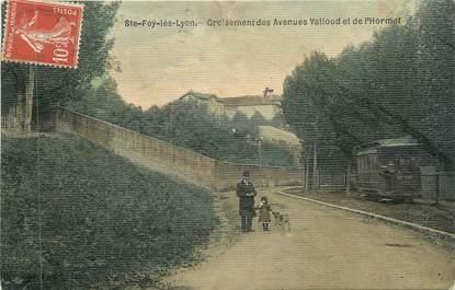 """CPA FRANCE 69 """" Ste Foy les Lyon, Croisement des Avenues Valioud et l'Hormet"""" / TRAMWAY"""