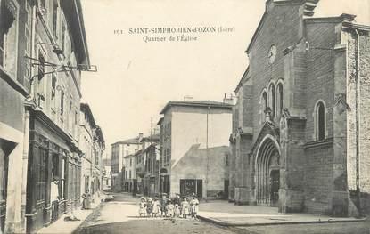 """CPA FRANCE 69 """" St Symphorien d'Ozon, Quartier de l'église"""""""