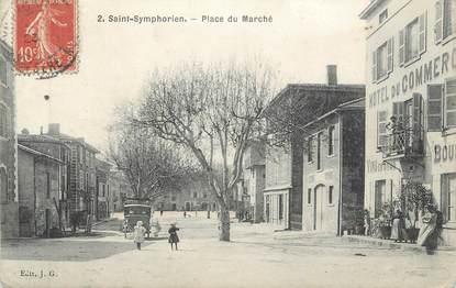 """CPA FRANCE 69 """" St Symphorien d'Ozon, Place du Marché"""""""