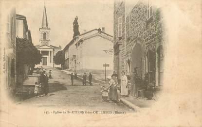 """CPA FRANCE 69 """" St Etienne des Oullières, L'église"""""""