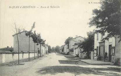 """CPA FRANCE 69 """" St Jean d'Ardières, Route de Belleville"""""""