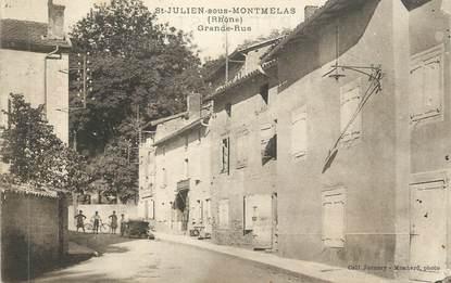 """CPA FRANCE 69 """" St Julien sous Montmelas, Grande Rue"""""""