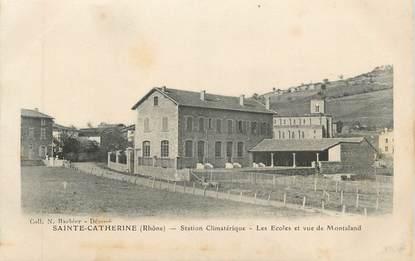 """CPA FRANCE 69 """" St Catherine, Les écoles et vue de Montaland"""""""