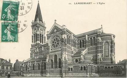 "/ CPA FRANCE 59 ""Lambersart, l'église"""