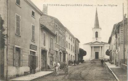 """CPA FRANCE 69 """" St Etienne des Oullières, Rue de l'église"""""""