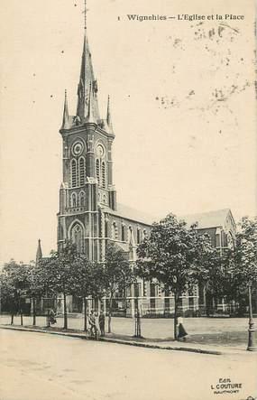 """/ CPA FRANCE 59 """"Wignehies, l'église et la place"""""""