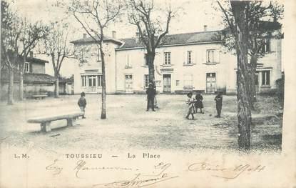 "CPA FRANCE 69 "" Toussieu, La place"""