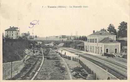 """CPA FRANCE 69 """" Tassin la Demi Lune, La nouvelle gare"""""""